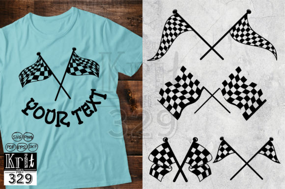 Checkered Racing Flag Graphic 3D Shapes By Krit-Studio329