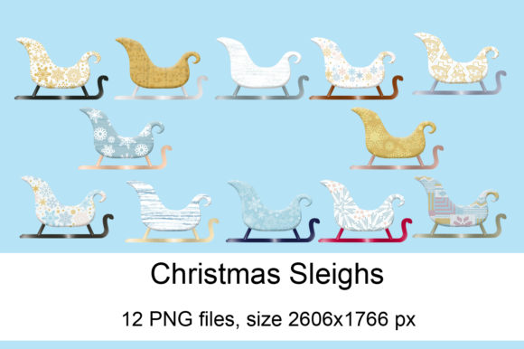 Print on Demand: Christmas Sleighs Graphic Crafts By Andrea Kostelic