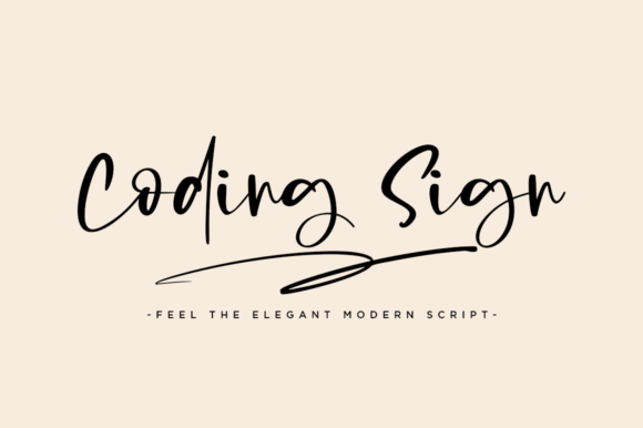 Print on Demand: Coding Sign Script & Handwritten Font By Haksen