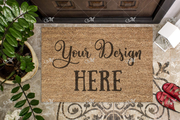 Coir Doormat Mockup Graphic Product Mockups By MaddyZ - Image 1