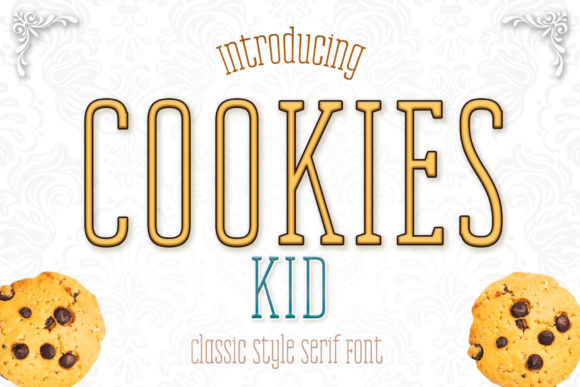Print on Demand: Cookies Kid Serif Font By numnim