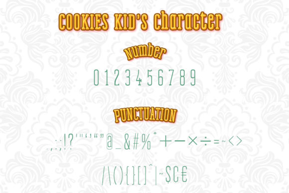 Print on Demand: Cookies Kid Serif Font By numnim - Image 3