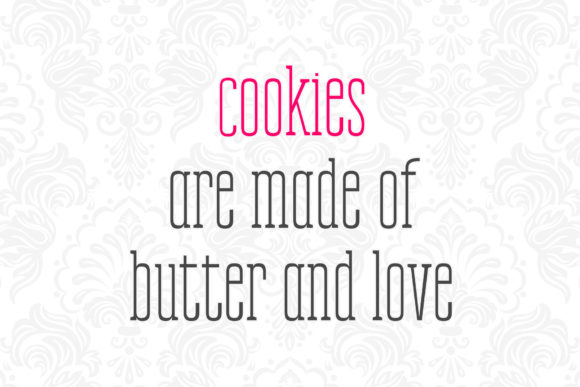 Print on Demand: Cookies Kid Serif Font By numnim - Image 5