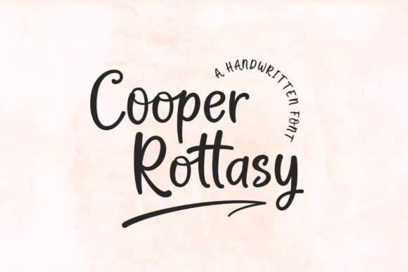 Print on Demand: Cooper Rottasy Script & Handwritten Font By Wandani Creative