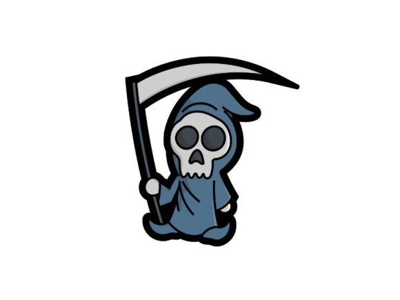 Print on Demand: Cute Skull Ripper for Halloween Graphic Icons By firdausm601