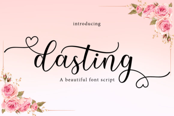 Print on Demand: Dasting Script & Handwritten Font By Greentype