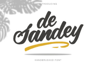 Print on Demand: De Sandey Script & Handwritten Font By RochArt