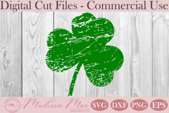 Download Free Distressed And Plain Shamrock Svg Duo Graphic By Madison Mae for Cricut Explore, Silhouette and other cutting machines.