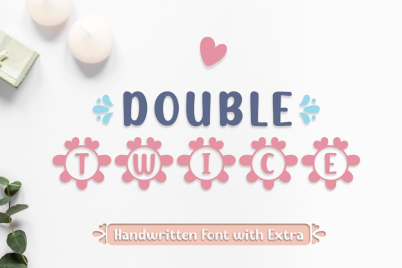 Print on Demand: Double Twice Script & Handwritten Font By Jasm (7NTypes) - Image 1