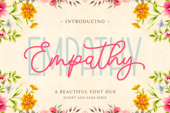 Print on Demand: Empathy Duo Script & Handwritten Font By Ghuroba Studio