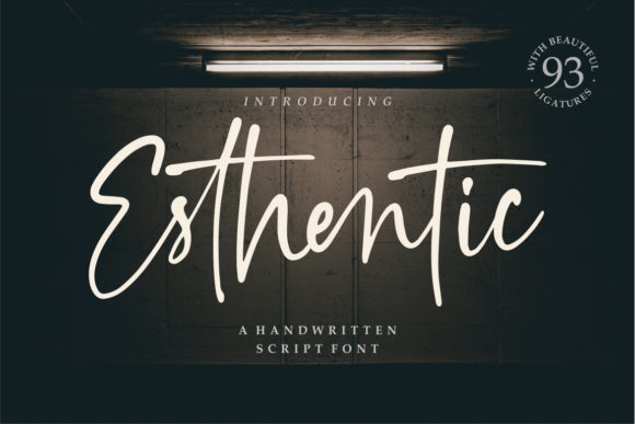 Print on Demand: Esthentic Script & Handwritten Font By Vilogsign