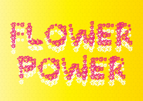 Print on Demand: Flower Power Display Font By GraphicsBam Fonts
