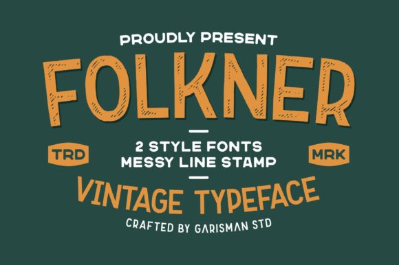 Print on Demand: Folkner Display Font By Garisman Studio