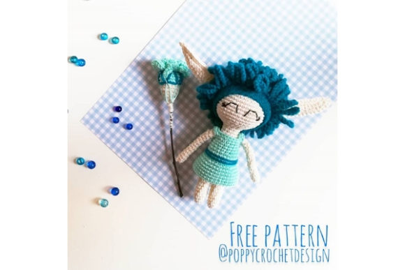 Frankie the Frost Sprite Crochet Pattern Graphic Crochet Patterns By Needle Craft Patterns Freebies - Image 1