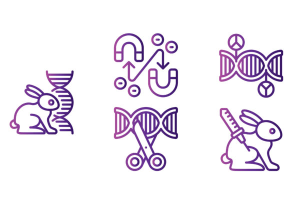 Genetics and Bioengineering Gradient Graphic Icons By beryladamayu