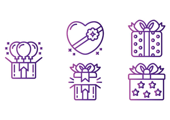 Gifts Gradient Graphic Icons By beryladamayu