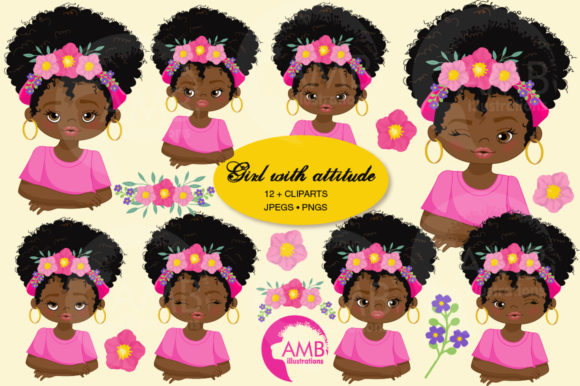 Girls with Attitude Clipart 2784 Graphic Illustrations By AMBillustrations