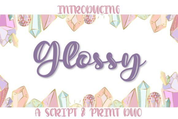 Print on Demand: Glossy Script & Handwritten Font By Justina Tracy - Image 1