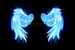 Glowing Folded Wings Graphic Illustrations By Blackmoon9
