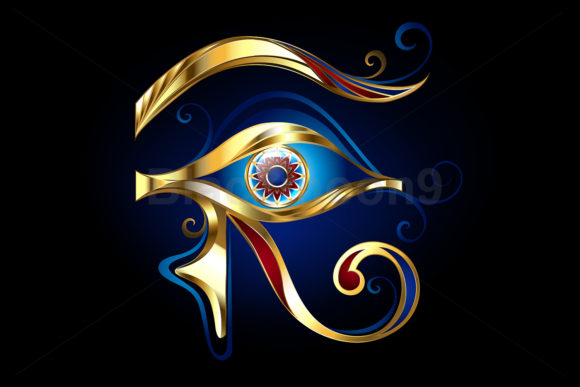 Gold Eye of Horus Graphic Illustrations By Blackmoon9