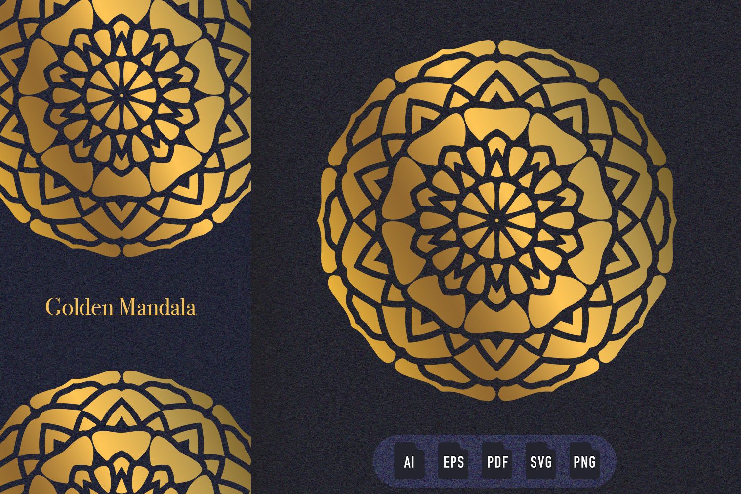Download Free Golden Mandala Art 05 Graphic By Dwikrisdiantoro9 Creative Fabrica for Cricut Explore, Silhouette and other cutting machines.