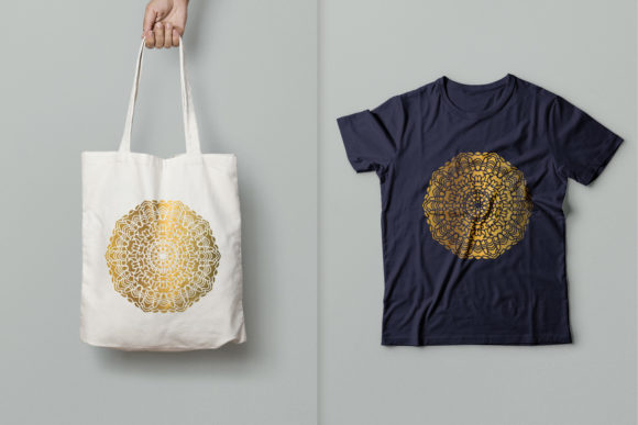 Download Free Golden Mandala Art 08 Graphic By Dwikrisdiantoro9 Creative Fabrica for Cricut Explore, Silhouette and other cutting machines.