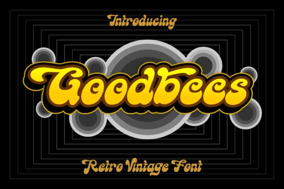 Print on Demand: Goodbees Display Font By ZetDesign