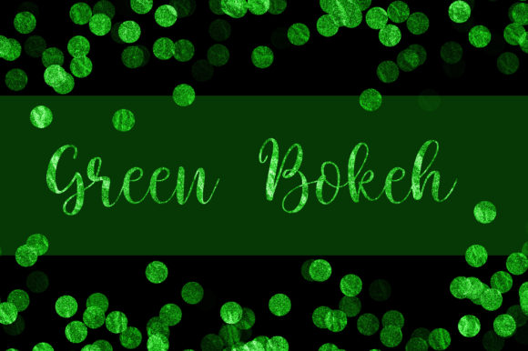 Green Bokeh Glitter Background Graphic Backgrounds By PinkPearly