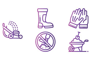 Grounds Keeping Gradient Graphic Icons By beryladamayu
