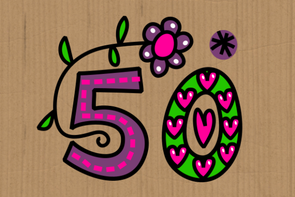 Print on Demand: Hand Drawn Doodle Numbers Folk Art Graphic Illustrations By Prawny - Image 3