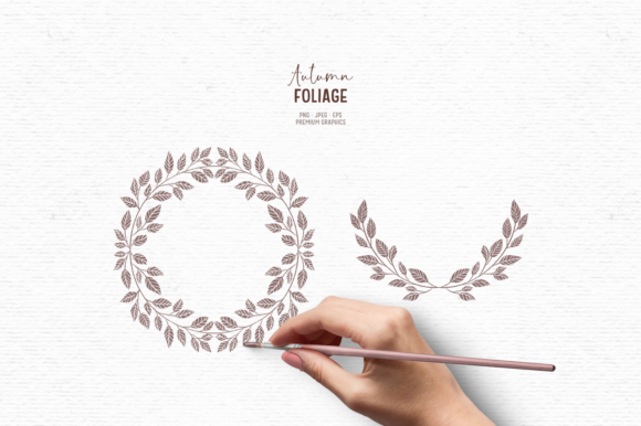 Print on Demand: Hand-drawn Fall Greenery Clipart Graphic Illustrations By Wallifyer