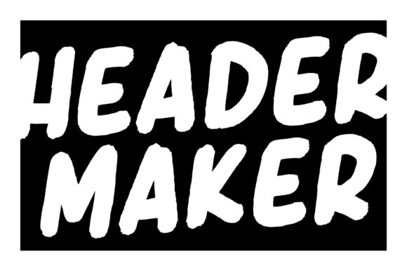 Print on Demand: Header Maker Display Font By Garisman Studio