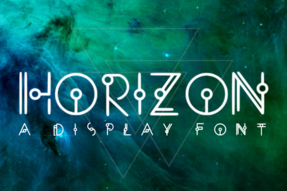 Print on Demand: Horizon Display Font By denestudios