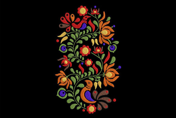 Print on Demand: Hungarian Color-rich Traditional Motif Europe Embroidery Design By Embroidery Shelter - Image 1