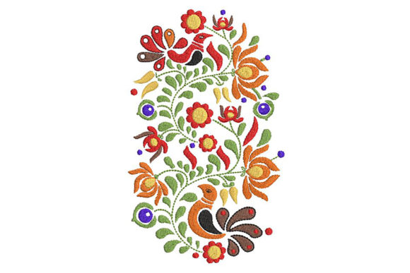 Print on Demand: Hungarian Color-rich Traditional Motif Europe Embroidery Design By Embroidery Shelter - Image 2