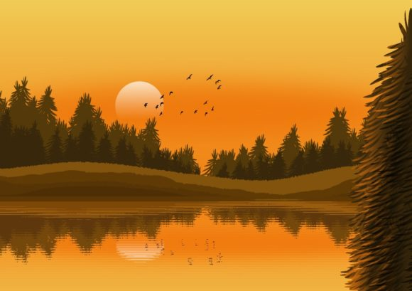 Illustration Background - Nature Landsca Graphic Backgrounds By americodealmeida
