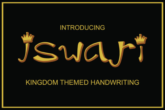 Print on Demand: Iswari Decorative Font By Mahesa Design