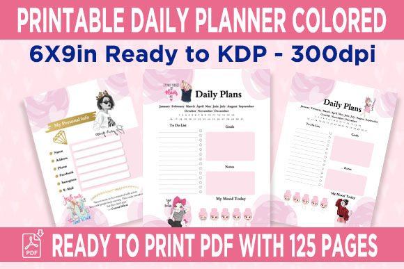 Print on Demand: KDP Interior Daily Planner Organi Graphic KDP Interiors By Queen Dreams Store