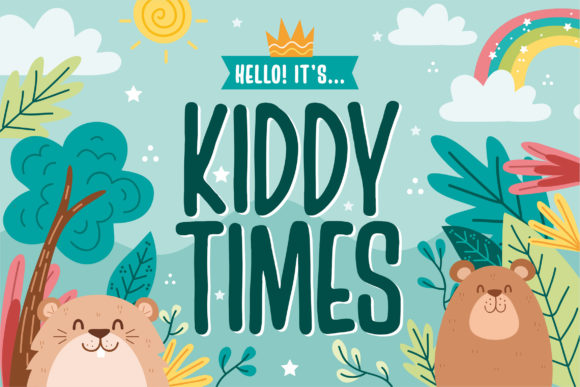 Print on Demand: Kiddy Times Display Font By Orenari