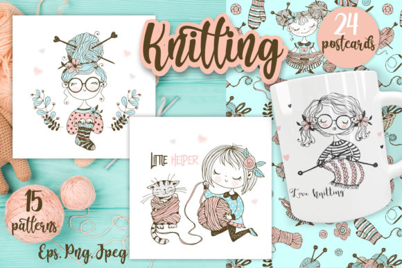 Knitting Graphic Illustrations By grigaola - Image 1