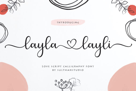 Print on Demand: Layla Layli Script & Handwritten Font By Sulthan Studio - Image 1