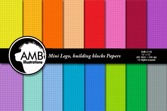 Lego Papers 2774 Graphic Patterns By AMBillustrations