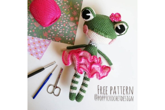 Lilly the Frog Crochet Pattern Graphic Crochet Patterns By Needle Craft Patterns Freebies - Image 1