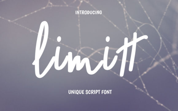 Print on Demand: Limitt Script & Handwritten Font By Graph Arts