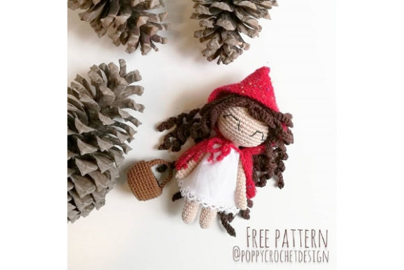 Little Red Riding Hood Crochet Pattern Grafik Häkeln von Needle Craft Patterns Freebies