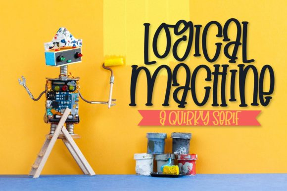 Print on Demand: Logical Machine Script & Handwritten Font By Justina Tracy