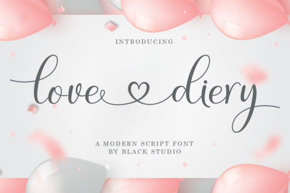 Print on Demand: Love Diery Script & Handwritten Font By Black Studio