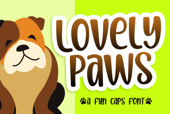 Print on Demand: Lovely Paws Script & Handwritten Font By estede75