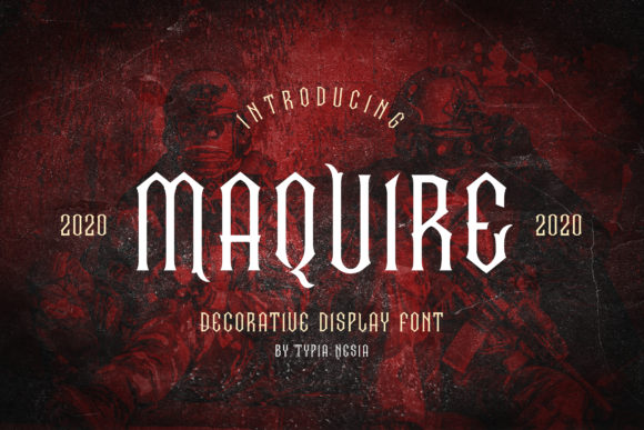 Print on Demand: Maquire Display Font By Typia Nesia