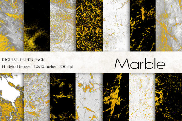 Marble Digital Papers Graphic Textures By BonaDesigns